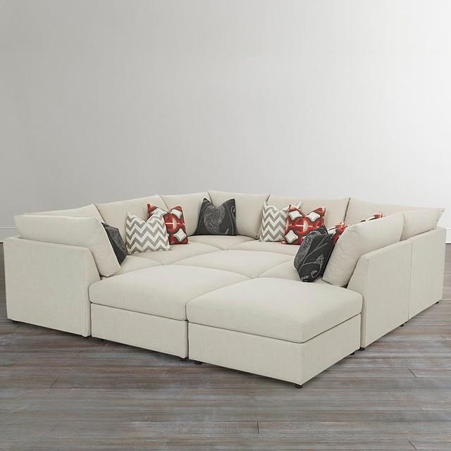 Beckham pit sectional by bassett furniture sectional for Sectional sofas bassett