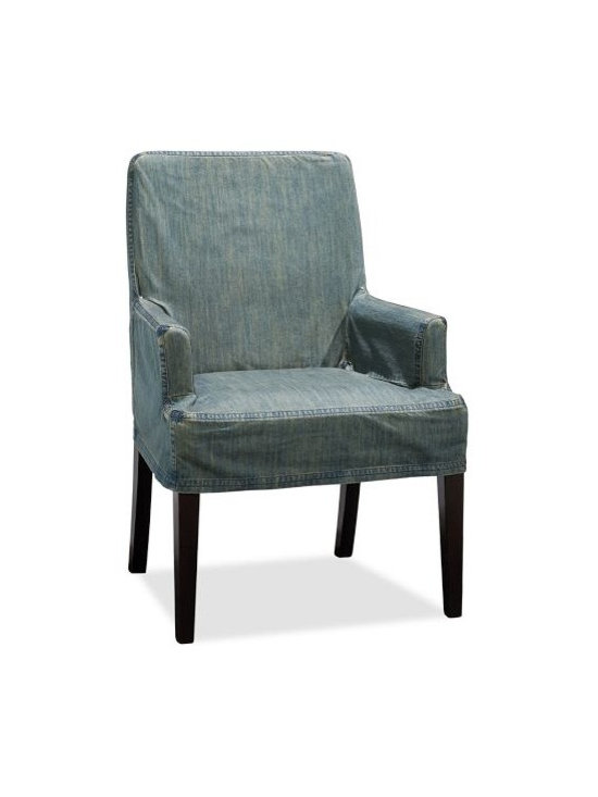 Napa Armchair Slipcover, Denim Blue -