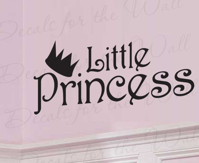 Girlfriend Princess Quote : Wall decal sticker quote vinyl lettering little princess