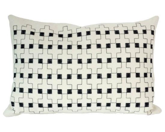 Charlene Mullen - double cross pillow -