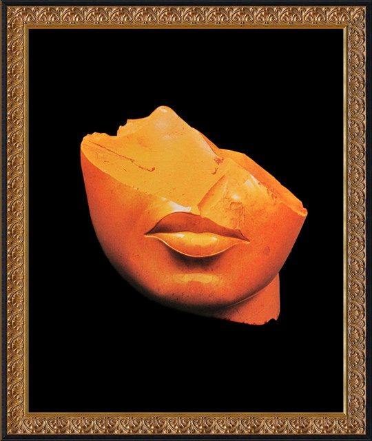 Pharaohs of the Sun: Fragment of a Head of a Queen Framed Print traditional-prints-and-posters