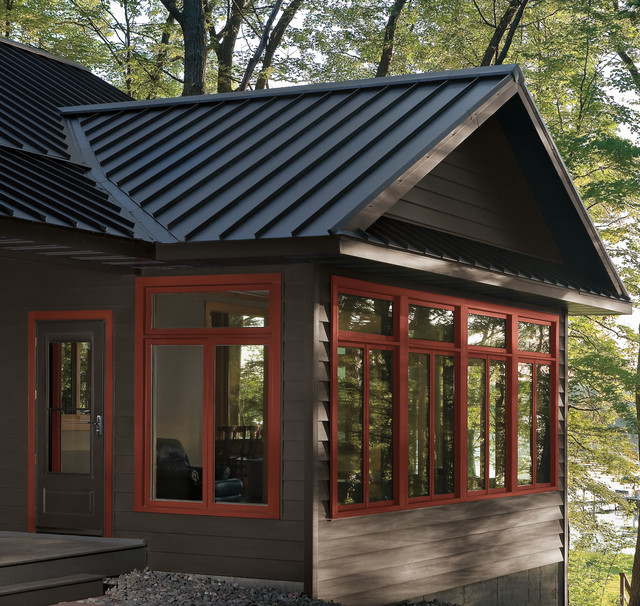 Lakefront Cabin - Traditional - minneapolis - by APEX Siding System