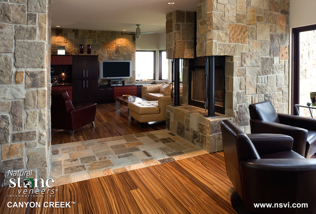 "Contemporary Warmth - ""Canyon Creek"" contemporary-indoor-fireplaces"