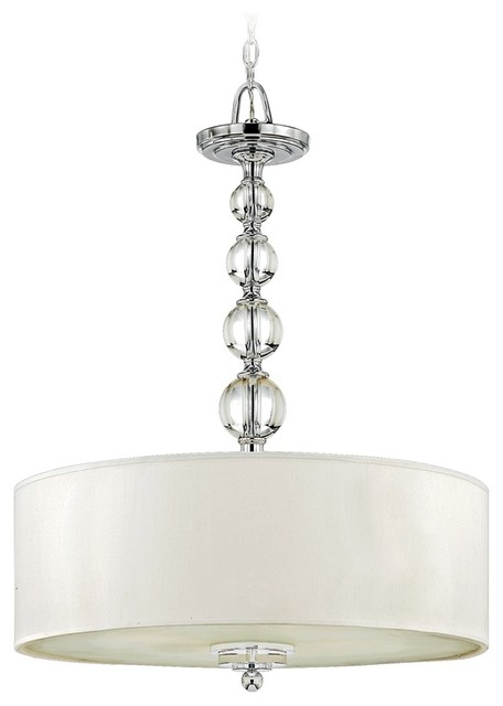 Contemporary Quoizel Downtown Polished Chrome Pendant Light contemporary-chandeliers