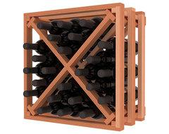 Lattice Stacking X Wine Cube in Premium Redwood, (Unstained) contemporary-wine-racks