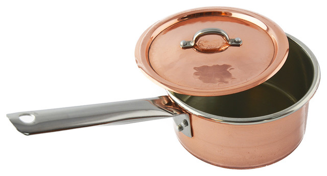 Artisan Italian Tin-Lined Copper Pot-Small traditional-cookware