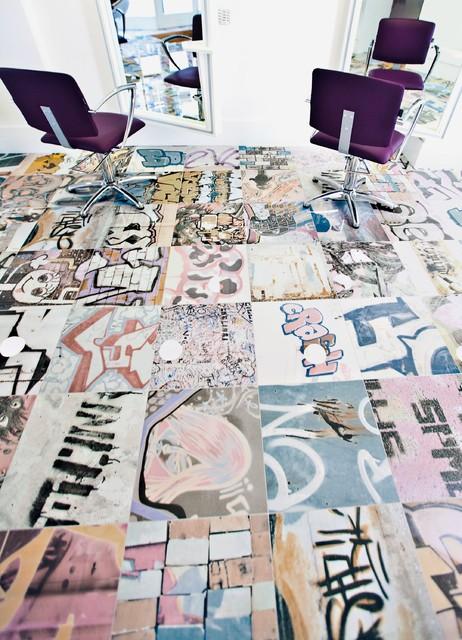 "moderno graffiti: art 18""x18"" contemporary-wall-and-floor-tile"
