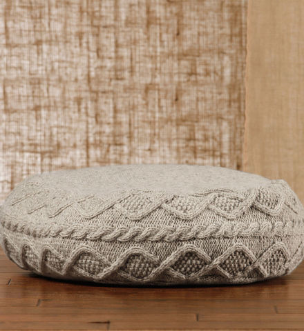 Cable Knit Floor Pouf - Contemporary - Floor Pillows And Poufs - by GAIAM