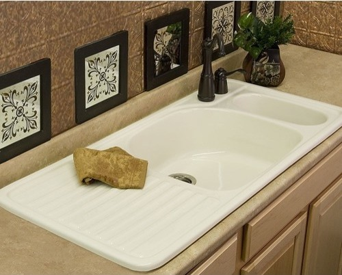 Advantage Wakefield Double Bowl Self Rimming Kitchen Sink modern-bath-products