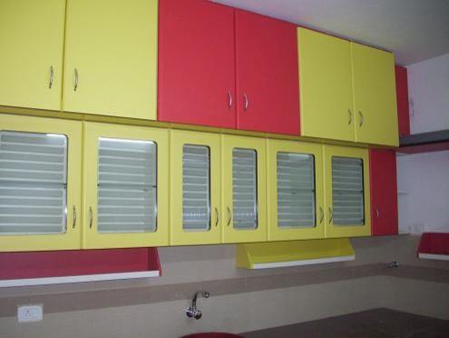red and yellow kitchen - modern modern-kitchen