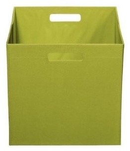 Itso Full Size Fabric Bin Green Modern Baskets By