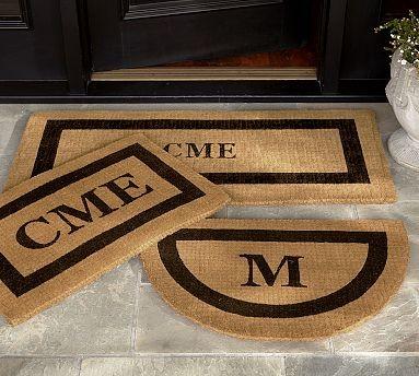 Monogrammed Extra Large Doormat 30 X 48 Quot Espresso