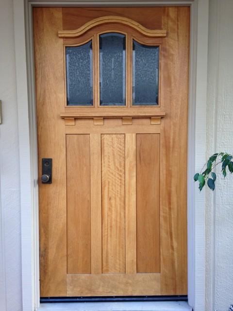 Arts and crafts mahogany entry door craftsman entry for Arts and crafts door