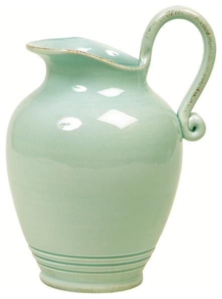 Large Jug in Mint traditional-pitchers
