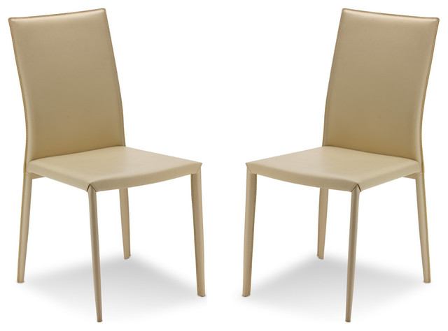 Lucy Beige Dining room Chair Set Modern Dining Chairs