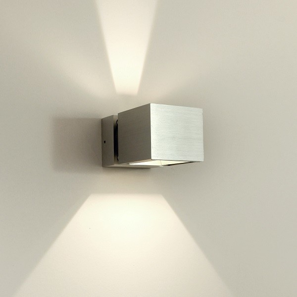 Asteria modern led up and down aluminium exterior wall for Exterior up down wall light