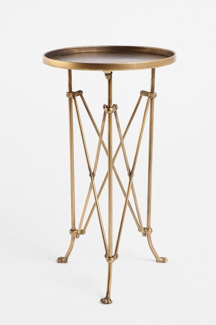 Metal Accordion Side Table, Brass eclectic-side-tables-and-end-tables