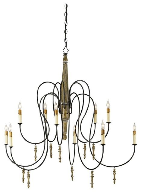 rouleau wrought iron 39 wide chandelier rustic chandeliers by lamps plus. Black Bedroom Furniture Sets. Home Design Ideas
