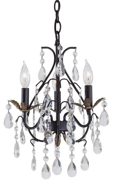 Minka Lavery ML 3122 3 Light Crystal Mini Chandelier traditional-chandeliers