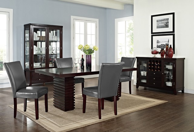 vero gray dining room collection contemporary dining