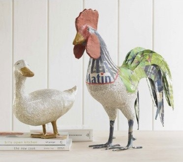 Rene Rooster and Daphne Duck eclectic accessories and decor