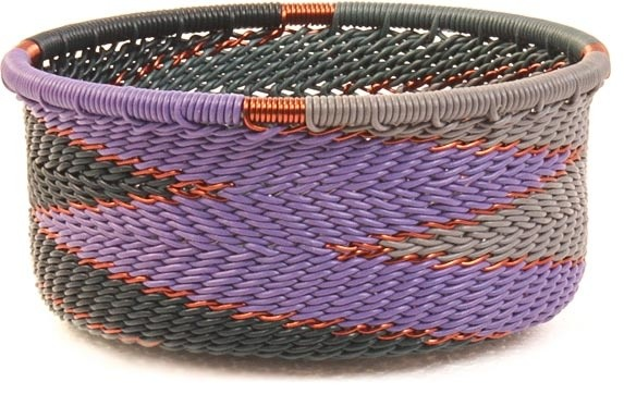Zulu Wire Basket, Small Straight Sides eclectic-baskets