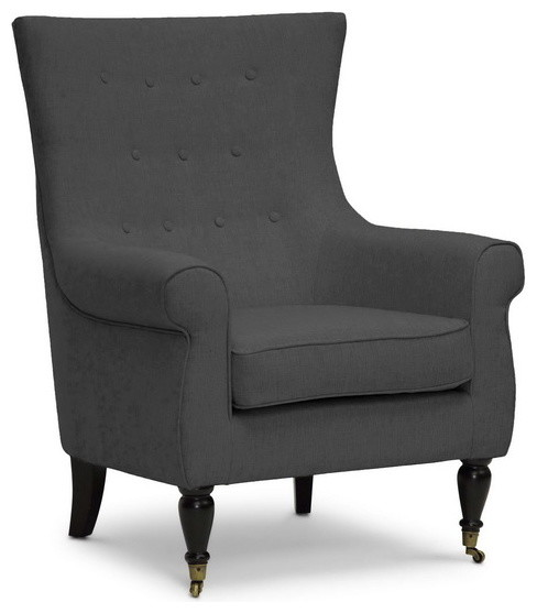 Baxton Studio Osmaston Gray Linen Modern Accent Chair traditional-accent-chairs
