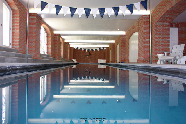 New Indoor Lap Pool traditional-pool