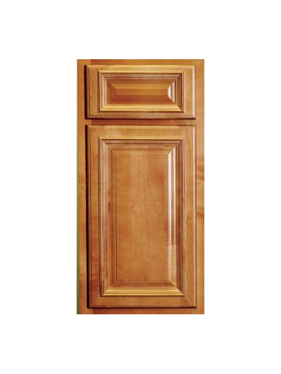 "SANTA FE / Assembled Kitchen Cabinets - Partial Overlay Door Style - 3/4"" Solid Birch Face-Frame"