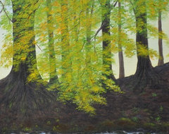 Autumn Glen        Oil Painting   By Flo modern originals and limited editions