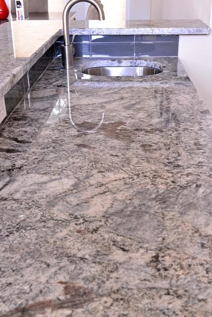 Ash Blue Granite Kitchen Amp Bar Modern Dallas By
