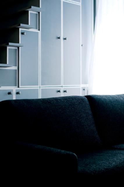 Paris Montmartre contemporary-living-room