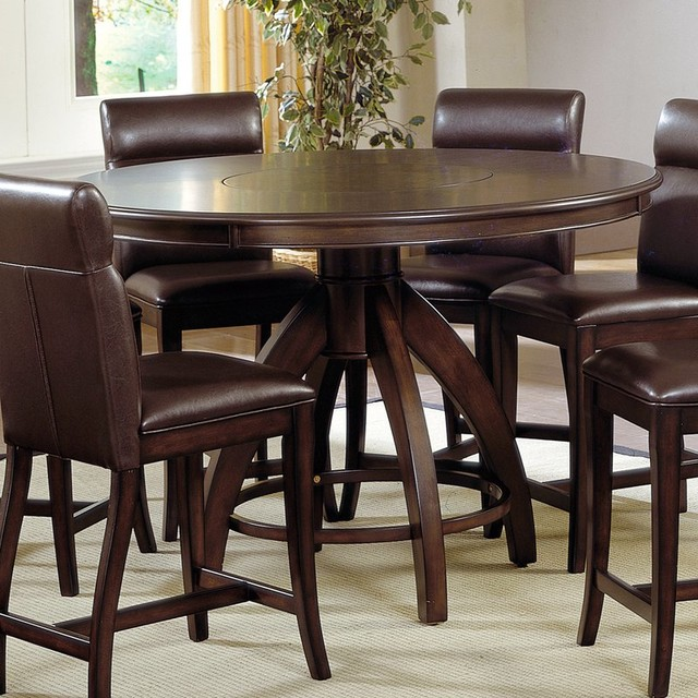 Nottingham Counter Height Dining Table-Dark Walnut Brown - HL2088 contemporary-bar-tables