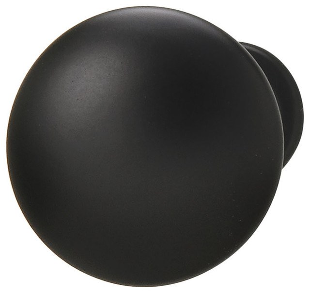 Hafele 134.06.301 Matte Black Cabinet Knobs traditional-cabinet-and-drawer-knobs