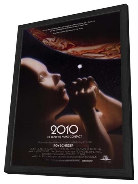 2010: The Year We Make Contact 27 x 40 Movie Poster - Style A - in Deluxe Wood F prints-and-posters