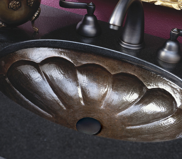 Calabash Antique Copper Sink by Native Trails traditional-bathroom-sinks