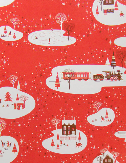 Hello!Lucky Winter Wonderland Gift Wrap Roll eclectic holiday decorations