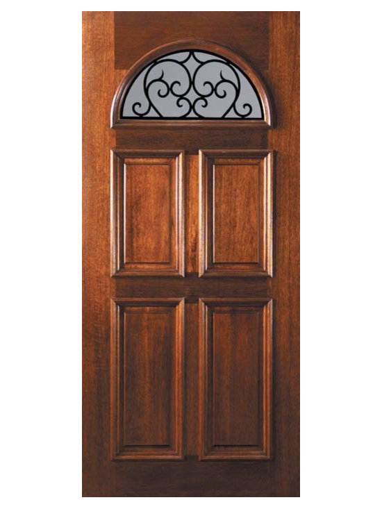 "Slab Single Door 80 Mahogany Palermo GBG 4 Panel Fan Lite GBG Glass - SKU#    L12662WPBrand    GlassCraftDoor Type    ExteriorManufacturer Collection    Fan Lite Entry DoorsDoor Model    Palermo GBGDoor Material    WoodWoodgrain    MahoganyVeneer    Price    975Door Size Options    36"" x 80"" (3'-0"" x 6'-8"")  $0Core Type    Door Style    Door Lite Style    Fan LiteDoor Panel Style    4 PanelHome Style Matching    Door Construction    LegacyPrehanging Options    SlabPrehung Configuration    Single DoorDoor Thickness (Inches)    1.75Glass Thickness (Inches)    Glass Type    Double GlazedGlass Caming    Glass Features    TemperedGlass Style    Glass Texture    Clear , RainGlass Obscurity    No Obscurity , Highest ObscurityDoor Features    Door Approvals    Wind-load Rated , FSC , TCEQ , AMD , NFRC-IG , IRC , NFRC-Safety GlassDoor Finishes    Door Accessories    Weight (lbs)    248Crating Size    25"" (w)x 108"" (l)x 52"" (h)Lead Time    Slab Doors: 7 daysPrehung:14 daysPrefinished, PreHung:21 daysWarranty    One (1) year limited warranty for all unfinished wood doorsOne (1) year limited warranty for all factory?finished wood doors"