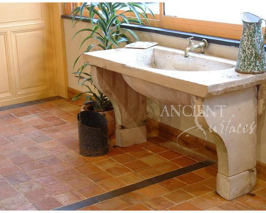 Bathroom Sinks (Mediterranean Style) - Image by 'Ancient Surfaces'