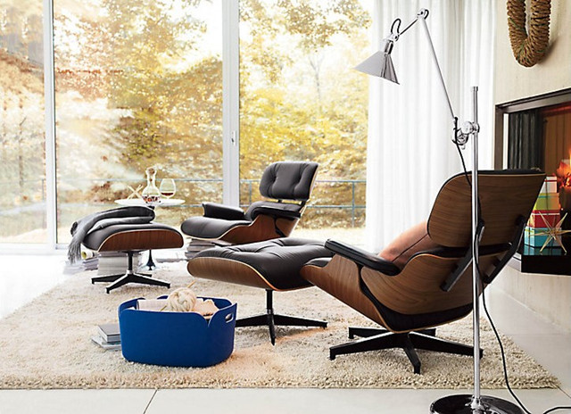 Eames Lounge Chair Modern Living Room vancouver by