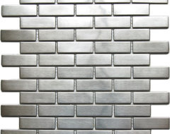 Large Brick Pattern Mosaic Stainless Steel Tile contemporary-mosaic-tile