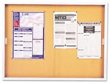 Quartet 72 x 48 in. Enclosed Cork Bulletin Board modern-bulletin-board
