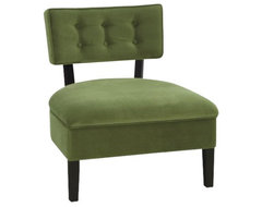 Curves Button Chair transitional-chairs