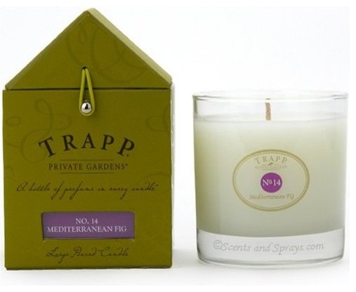 Trapp Large Poured Candle No. 14 in Mediterranean Fig mediterranean candles and candle holders