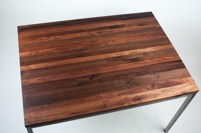 black walnut butcher block counter top modern kitchen