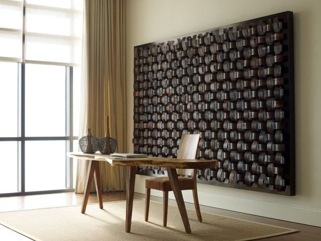 Modern wall decor 2017 grasscloth wallpaper - Contemporary wall art for living room ...