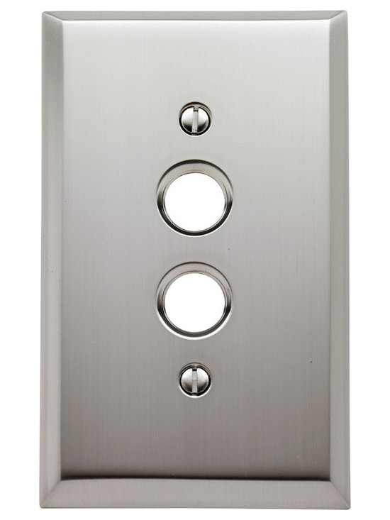 Rejuvenation: Entry - The Lewis. Single push-button switch plate. Hot-forged brass, available in multiple finishes.