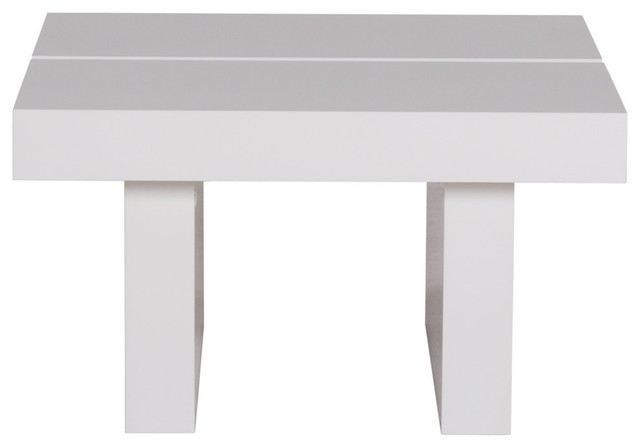 Tokyo Square 62 High End Table, High Gloss White modern-side-tables-and-end-tables