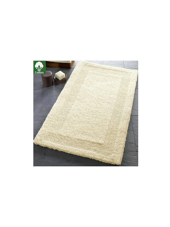 Arizona Reversible Luzury Cotton Bath Rugs from Vita Futura - Our Arizona luxury bath rugs are beautiful, plush high-quality 100% cotton with a dense, soft pile (pile height of 16mm / .63in.).  Designed and produced in Germany, this rug is reversible and machine washable.  An exquisite addition to any bath.