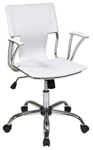 Office Star Avenue Six Office Chair - White - contemporary - task ...